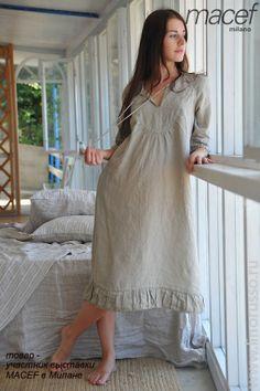 Linen pajamas?!? How stinkin cozy!
