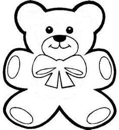 Teddy Bear Stencil Template from Serving Pink Lemonade: A