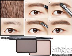 eyebrow tutorial korean makeup www.piccassobeauty.net