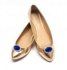 Biżuteryjne klipsy , które możesz przypiąć do butów, sukienki, włosów, wszedzie gdzie zapragniesz! Sapphire & Diamonds - klipsy do butółw