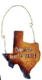Deep in the Heart of Texas Sign