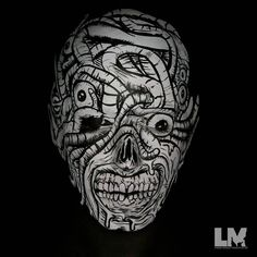 Itssss  PARDEE time!  Here is my recreation of @alexpardee's 'The Worm King.' This look was VERY detailed I chose to start at the mouth in order to do my best to not get lost in the line work  Please go check @alexpardee out (if you haven't already) and give him a follow! This look was created using black @wolfefaceartfx  and white @kryolanofficial aquacolors and white @europeanbodyart #vibe airbrush paint. I used my @iwatamedea revolution gun and Silver jet compressor  #alexpardee…