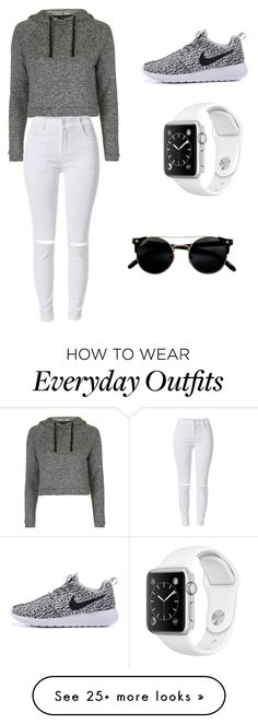 """""""Quick simple everyday hang out outfit."""" by broderick-collection on Polyvore featuring Topshop"""