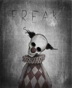 Creepy Drawings, Dark Art Drawings, Halloween Drawings, Halloween Art, Art Drawings Sketches, Cool Drawings, Scary Clown Drawing, Dark Art Illustrations, Illustration Art