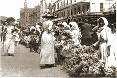 Trafalgar Square, flower sellers. 1800s. My interest in this stems from wanting to study the nature of society. Who was selling flowers, can flowers be political?