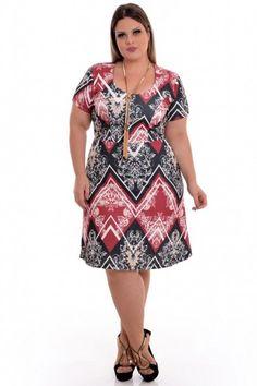 Vestido Plus Size Print Vine