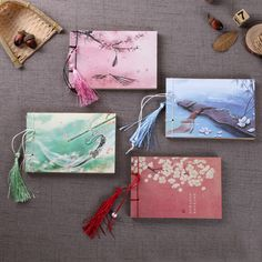 Booklet Notebook Office Stationery Journal ChinaTravel Diary Creative Cute Chinese Wind Handmade Wireboard Booklet Notebook