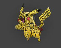 Pikachu Typography by gustavobressan Typography Images, Cool Typography, Typography Inspiration, Typography Letters, Typography Poster, Typography Design, Lettering, Word Drawings, Drawing Letters