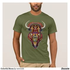 Colorful Bison T-Shirt