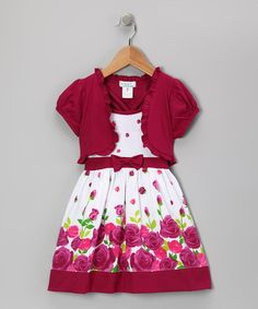 Take a look at this Raspberry Rose Dress & Shrug - Infant, Toddler & Girls by Littoe Potatoes on #zulily today!