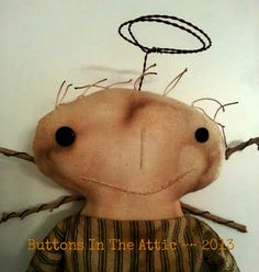 Primitive Angel by ButtonsInTheAttic on Etsy, $32.95