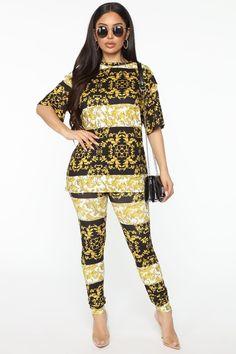 Fancy Or Whatever Pant Set - Black/combo – Fashion Nova Rompers Women, Jumpsuits For Women, Boujee Outfits, Fashion Outfits, Jackets For Women, Sweaters For Women, Swimsuits For Curves, Plus Size Pants, Curve Dresses