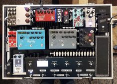 @chanceriehl rig is STACKED and completed at @theguitarsanctuary! #pedalboardsetups #geartalk #gottone #pedals #cleancabling #omilionsetups…