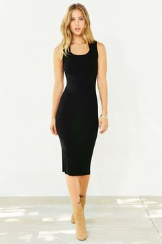 Shop Silence + Noise Miranna Sweater Midi Dress at Urban Outfitters today. Black Sweater Dress, Dress Black, Brooklyn Style, Calf Length Dress, Urban Dresses, Cutout Dress, Cardigans For Women, Autumn Fashion, Dresses For Work