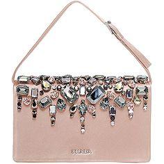 prada saffiano shoulder bag - embellishment on Pinterest   Prada, Clutches and Leather Clutch