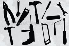 Tools Silhouette Vector - silhouettevector