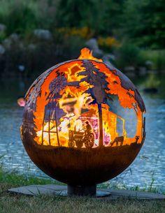 Гармония огня и металла. Очаги для сада. #сад #ландшафтныйдизайн #landscapedesign