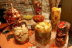 A super cute idea for a gourmet chips and salsa buffet courtesy of A Catered Affair in Nashville. Salsa Bar, Nachos, Diy Wedding Food, Wedding Ideas, Garden Wedding, Wedding Snacks, Wedding Inspiration, Wedding 2015, Wedding Fun