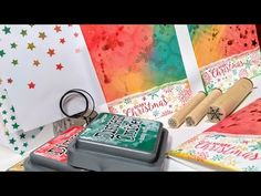 Distress Oxide One Layer Christmas Cards // Cool Techniques! // Stamp School - YouTube