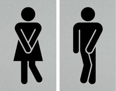 if i ran a space with a male female set of loos toilet symbolfunny