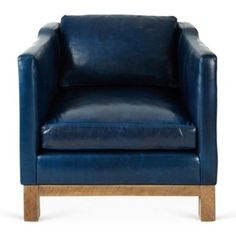 Check out this item at One Kings Lane! Cara Chair, Navy Blue