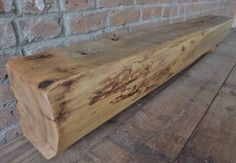 "Reclaimed Barn Beam 62"" x 8"" x 8"" - Fireplace Mantel - Rustic Mantle Shelf - Over 100 Year Old Barnwood by Harvestbilt on Etsy"