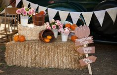 Pumpkin and Roses First Birthday Party - Pretty My Party