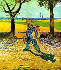 The painting on the Road to Tarascon is a self-portrait of Vincent van Gogh traveling with its artwork in 1888. It was seen as a lost masterpiece and a rare glimpse into van Gogh's life as an individualist and a traveling painter. To him real painters don't paint things how they are but they do paint them as they feel they are. Francis Bacon thought it was a haunting painting of van Gogh as an outsider to the world.