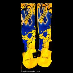 Per request, we will be doing the Down Syndrome Awareness Custom Nike Elites.We contact you within one hour of purchase to ask the name that you would like on these creations.These were personalized with a name , however it will be left blank unless requested.We will be donating a portion of the proceeds sold from these to the National Down Syndrome Society because we feel that is the right thing to do.Thank you for your support.