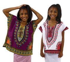 Children's Traditional Print Dashiki - Girls African Clothing by CULTUREAPPAREL