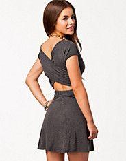Cross Back Jersey Skater Dress, Club L