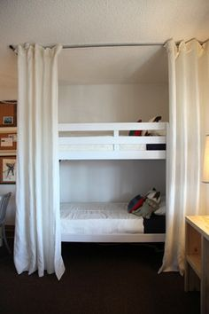 Make a bedsit more private. Hides Bed at night - creates privacy at night time