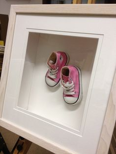 Custom Frame your child's first pair of shoes!