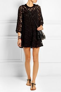 Étoile Isabel Marant | Dahlia guipure lace mini dress | NET-A-PORTER.COM