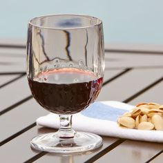 Seville Plastic Wine Glass | This durable, plastic glass gets a stylish touch from the bubble effect used around the base.