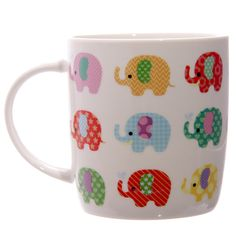 Lauren Billingham Dotty Elephants Design Bone China Mug