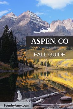 Fall Weekend Guide for Aspen, Colorado. Maroon Bells, fall hike through aspens, where to stay, and what to do. #aspen #aspencolorado #fallhiking #fallhike #aspengroves #maroonbells #fallatmaroonbells #independencepass #colorado #fallincolorado #fallhikescolorado #downtownaspen #fallinaspen #whattodoinaspen Aspen Colorado, Colorado Springs, Crested Butte, Great Vacations, Estes Park, Rocky Mountain National Park, Rocky Mountains, Day Trips, National Parks