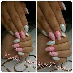by Karolina Żuchowska  :) Follow us on Pinterest. Find more inspiration at www.indigo-nails.com #nailart #nails #indigo #pink #pastel #white