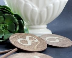 Wedding Reception Table Numbers Natural Wedding by EventDesignShop
