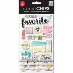 Me & My Big Ideas Chipboard Value Pack Favorite