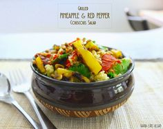 Grilled Pineapple & Red Pepper Couscous Salad