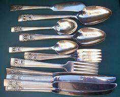 Silver Plate Jelly Spoon...King Cedric pattern | Silverware ...