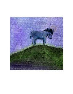 Spring Donkey Mule Burro Art  Print  8x10 by MazzyBlueStudios, $20.00