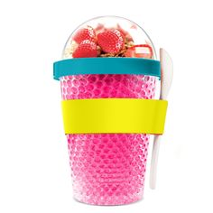 """Features:  -Shape: Round.  -Perfect solution to adding a healthy bite to your day.  Product Type: -Food storage container.  Set Size: -1.  Shape: -Round.  Food Safe: -Yes.  --""""This creative addition t"""