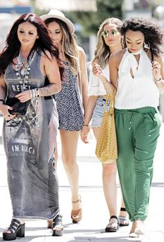 Little Mix leaving the Yogurtland in Los Angeles, CA - August 4, 2015