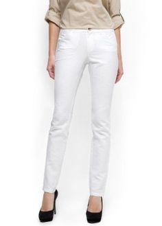 Mango Women's Cotton Linen Trousers, White, 10 White 10 MANGO. $69.99