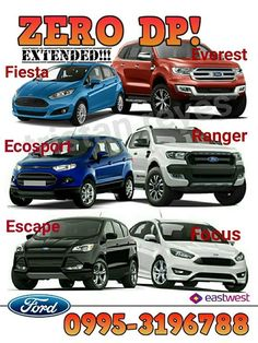FORD DECEMBER PROMO! (ZERO cashout - all-in)  INQUIRE NOW!!! 09953196788 / 09339344334  to apply online pls click: http://www.emailmeform.com/builder/form/vHy61P2ODCEe44cg3  Read more 👉 👉 👉 👉 ✔NO HIDDEN CHARGES ✔HASSLE FREE TRANSACTION ✔FAST RELEASE ✔EASY REQUIREMENTS ✔AFTER SALES GUARANTEED  🚘 🚘 🚘 🚘 🚘 🚘 Ford F I E S T A Trend MT(hatchback) 755K 5K dp 16,020 (5yrs) Ford Fiesta Trend AT(hatchback) 805K 5K dp 17,081 (5yrs) Ford Fiesta 1.0L Ecoboost Sport (hatchback) 905K 5K dp 19,202…