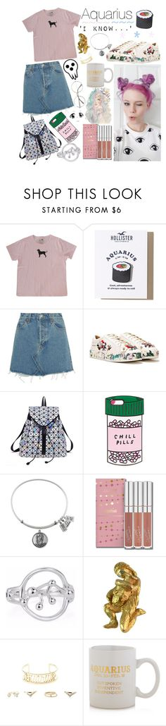 """""""Aquarius♒"""" by unicornpotter ❤ liked on Polyvore featuring Hollister Co., RE/DONE, Nasty Gal, ban.do, Kenneth Jay Lane, Charlotte Russe and Sparrow & Wren"""