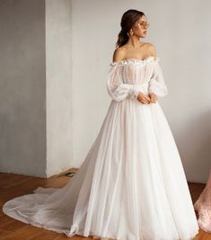 Boho Wedding Dress Backless, Fit And Flare Wedding Dress, Cute Wedding Dress, White Wedding Dresses, Bridal Dresses, Low Key Wedding Dress, Lace Wedding, Vintage Boho Wedding Dress, Delicate Wedding Dress