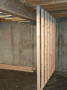 to Frame a Floating Wall how to install a floating wall to seperate a large space.how to install a floating wall to seperate a large space. Basement Remodel Diy, Basement Makeover, Basement Renovations, Home Renovation, Home Remodeling, Basement Ideas, Basement Designs, Basement Entrance, Basement Layout